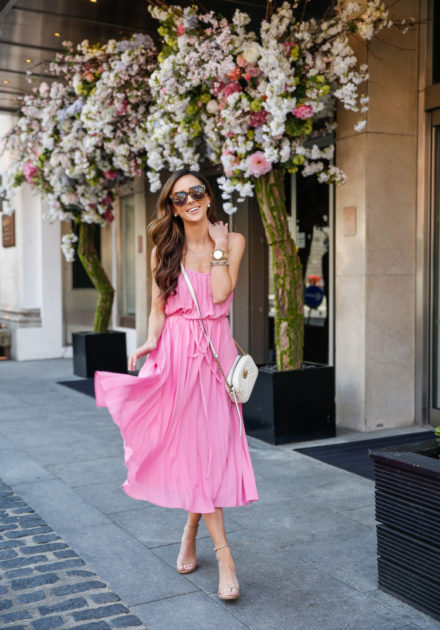 Pleated Pink Dress Under $100 + An Encouraging Message