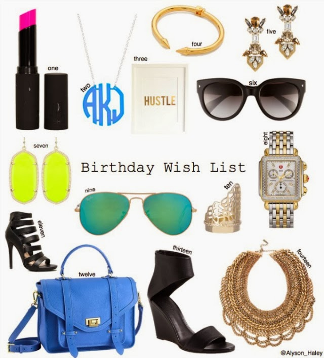 Birthday Wish List