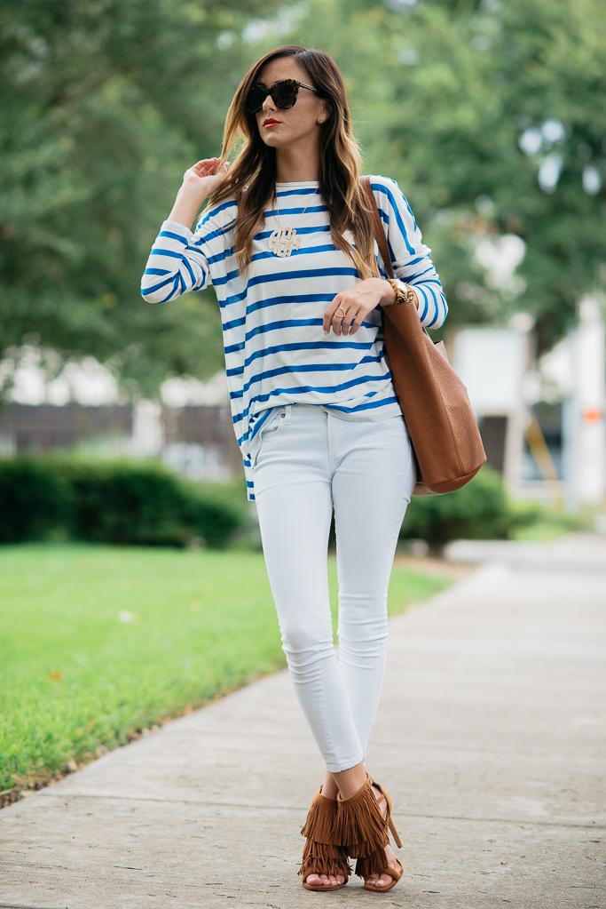 Blue Stripes Bright Lips Alyson Haley